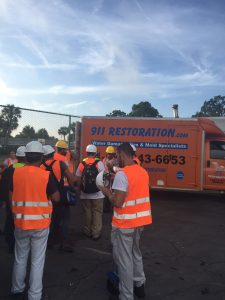 Hurricane Flood Cleanup Crew