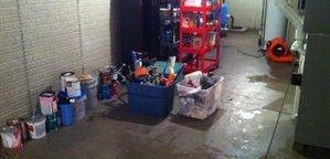 Garage Water Damage in Boca Grande home