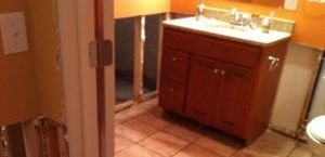 Water Damage in Bathroom Sink in Fort Myers Home