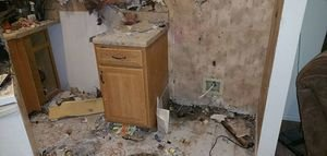 Water Damage North Naples home from Fire in ktichen