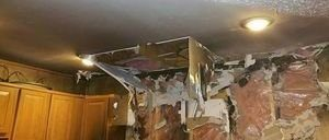 Extensive Fire Damage In Kitchen