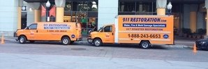 Mold Removal Fleet At Job Site