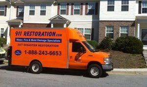 Water Damage Fort Myers Truck At Townhouse