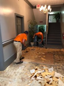 Flood Damage Restoration In A Residential Property