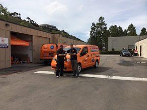 Technicians at 911 Restoration of Naples Headquarters