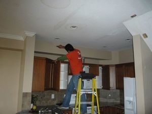 Inspecting A Ceiling For Mold And Water Damage