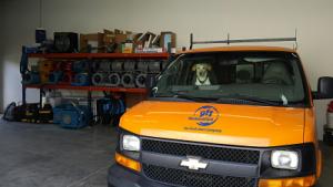 Pupper At 911 Restoration of Naples Headquarters