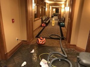 Flood Cleanup In A Hotel