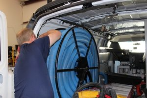 A Project Manager Prepping Mold Removal Equipment