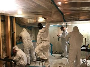 Mold Remediation Crew Working In A Residential Property