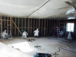 Technicians Conducting Mold Decontamination In A Commercial Property