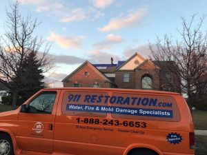 Mold Removal Team At A Residential Property