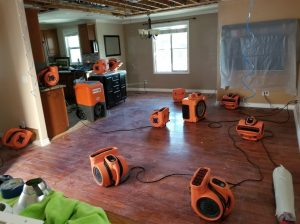 Drying Out A Home As Part Of A Mold Removal Effort